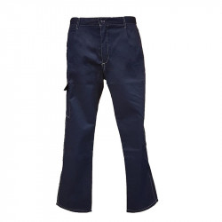 Pantalone Blu Con Tasca...